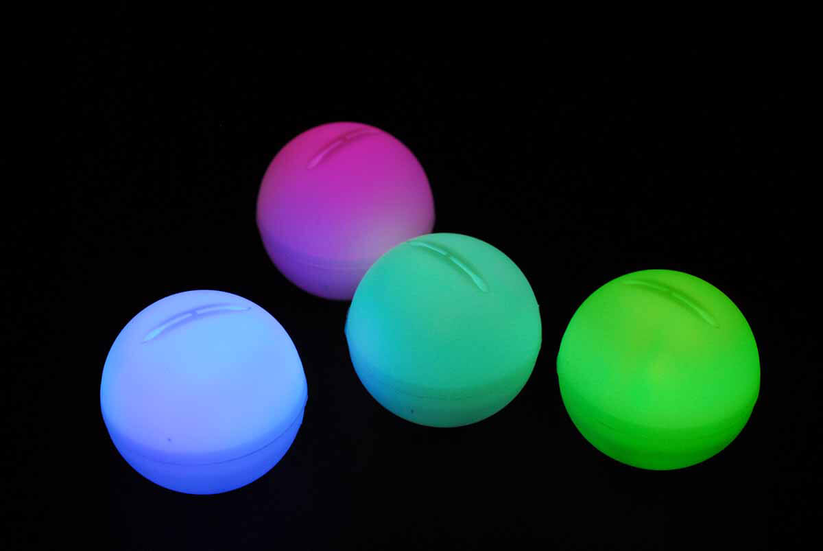 4 Led Color Changing Enchanted Mood Lights Orbs 2 Quot Battery Operated Float