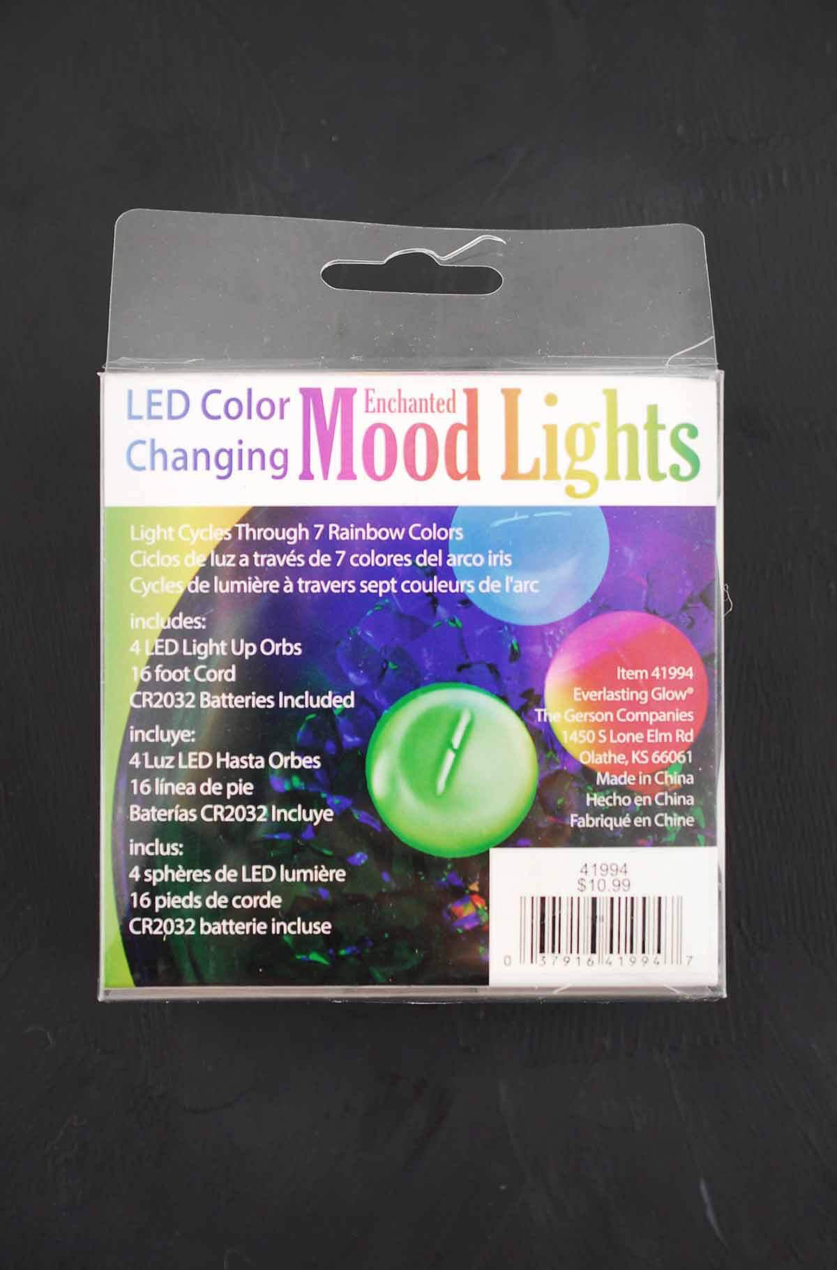 4 Led Color Changing Enchanted Mood Lights Orbs 2