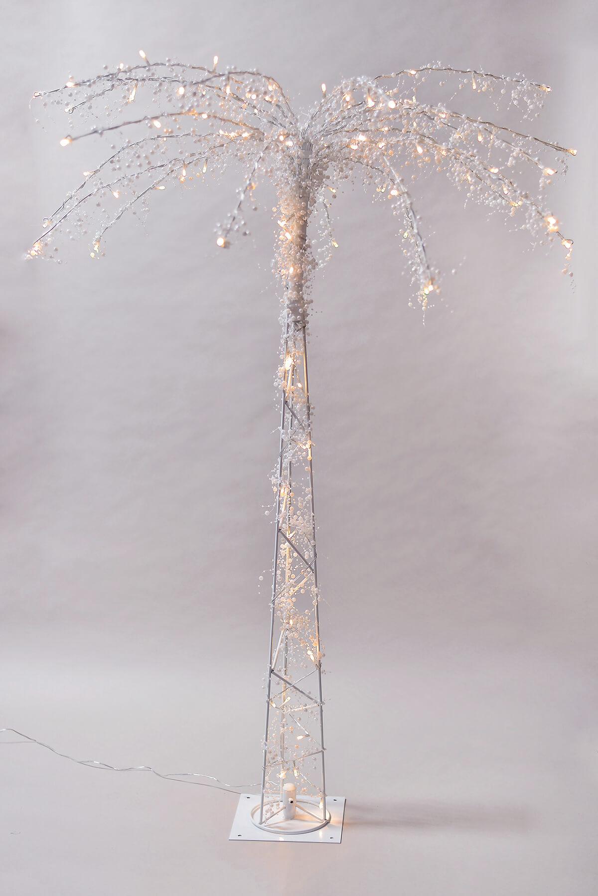 LED Lighted Palm Tree 4 Feet, 100 Warm White Lights