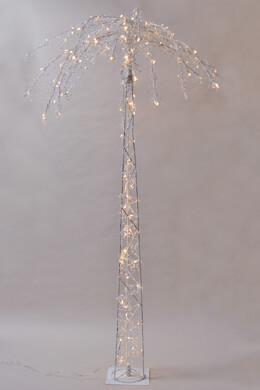 Tall Lighted Palm Tree LED  6 FT, 130 CT, Peal Accents