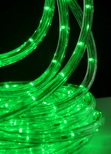 GREEN Outdoor LED Rope Light  33 Feet  Clear Tube  AC Plug InOutdoor LED Rope Light  33 Feet  Clear Tube  AC Plug In. Green Led Rope Lighting. Home Design Ideas