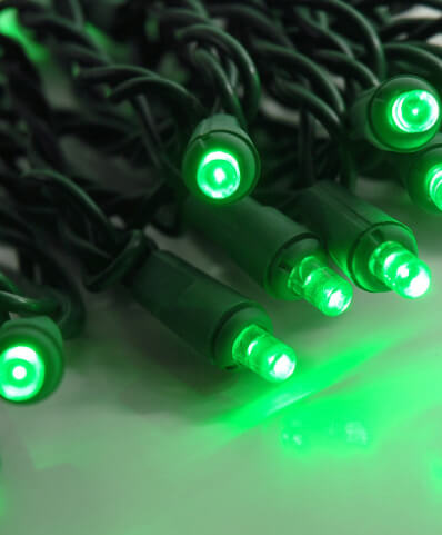 LED String Lights Green Wire Green 16.5ft