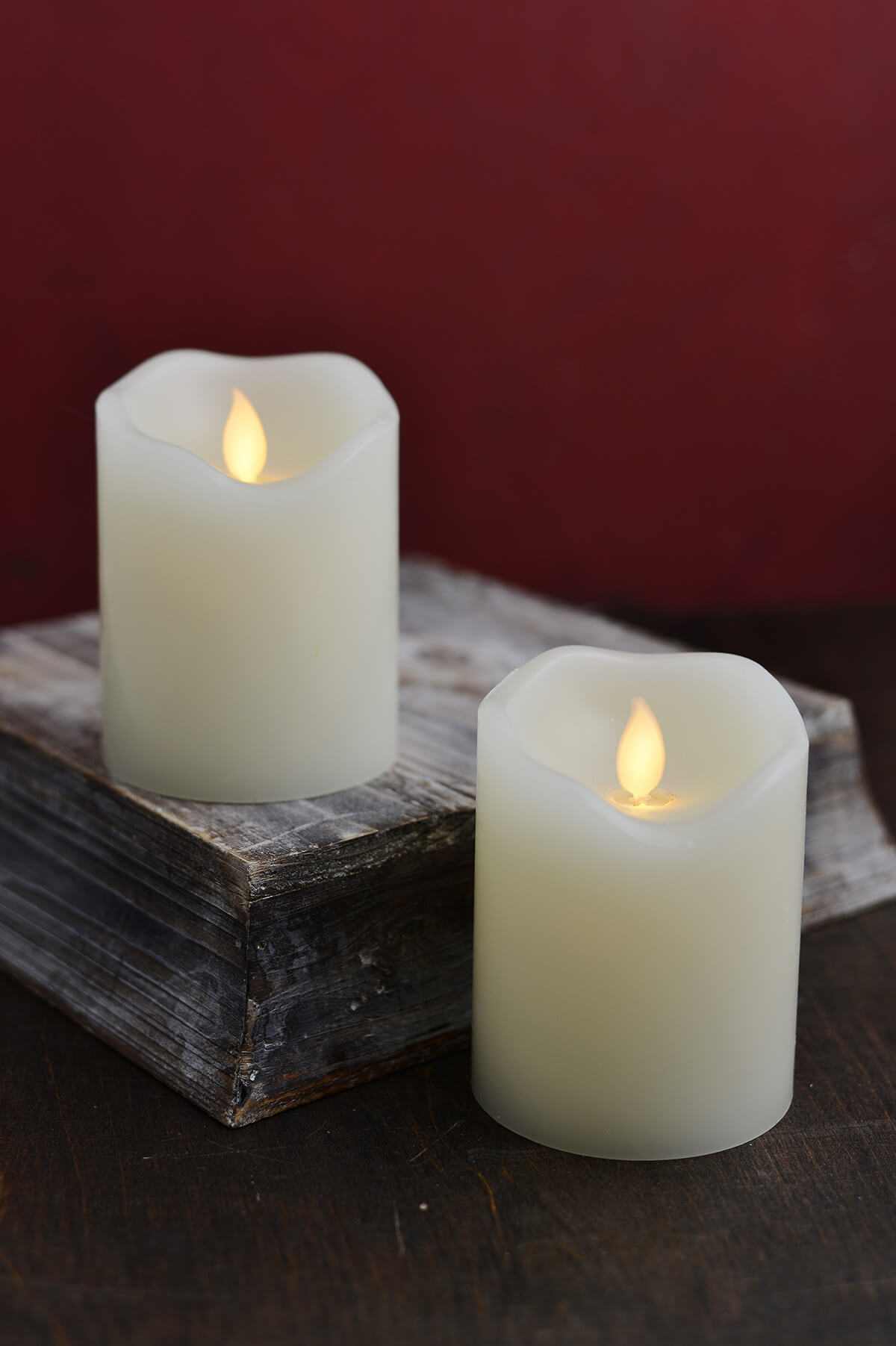 Led Motion Flame Candle 3x4in Set Of 2