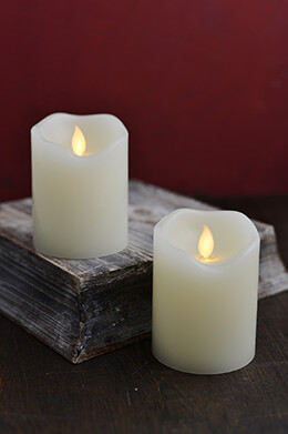 LED Motion Flame Candle 3x4in (Set of 2)