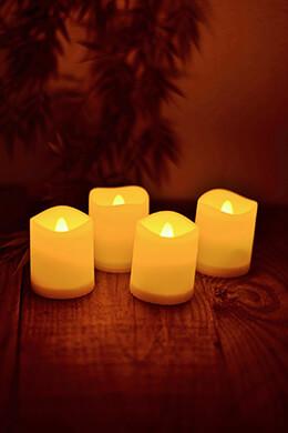 LED Votive Candles Ivory (Set of 4)