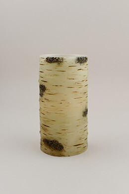 "Birch Wax Flameless Battery Operated LED Pillar Candle 6"", Timer"