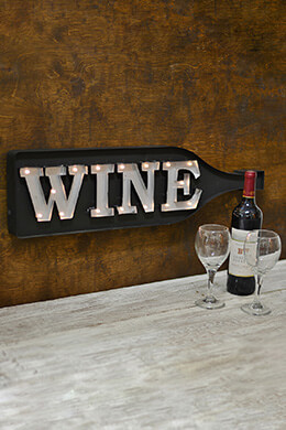 LED Wine Bottle Sign