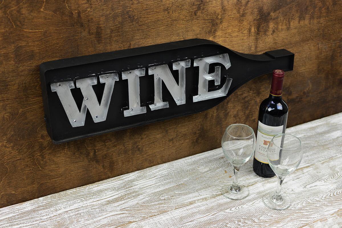 LED Wine Bottle Sign