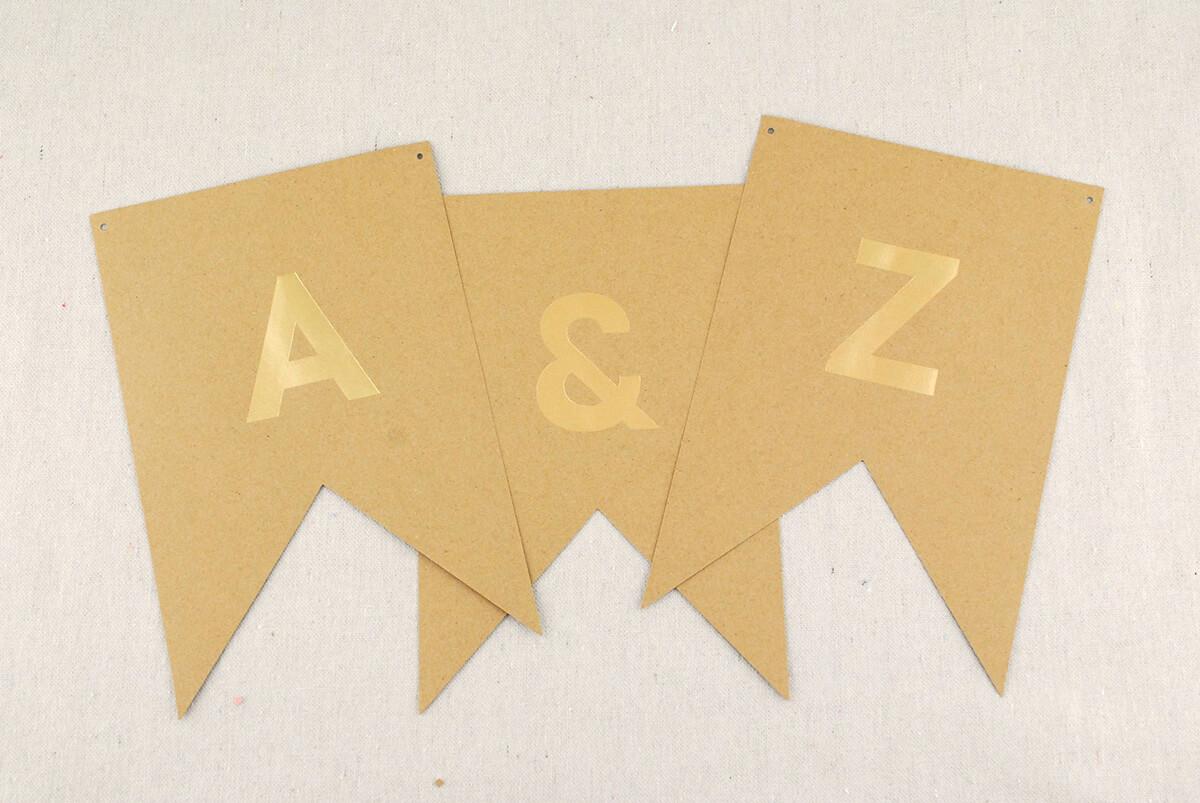 Letter Banner Gold Kraft (46 letters)