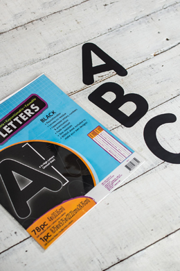 "Adhesive 4"" Black Poster Letters - 78 pieces"