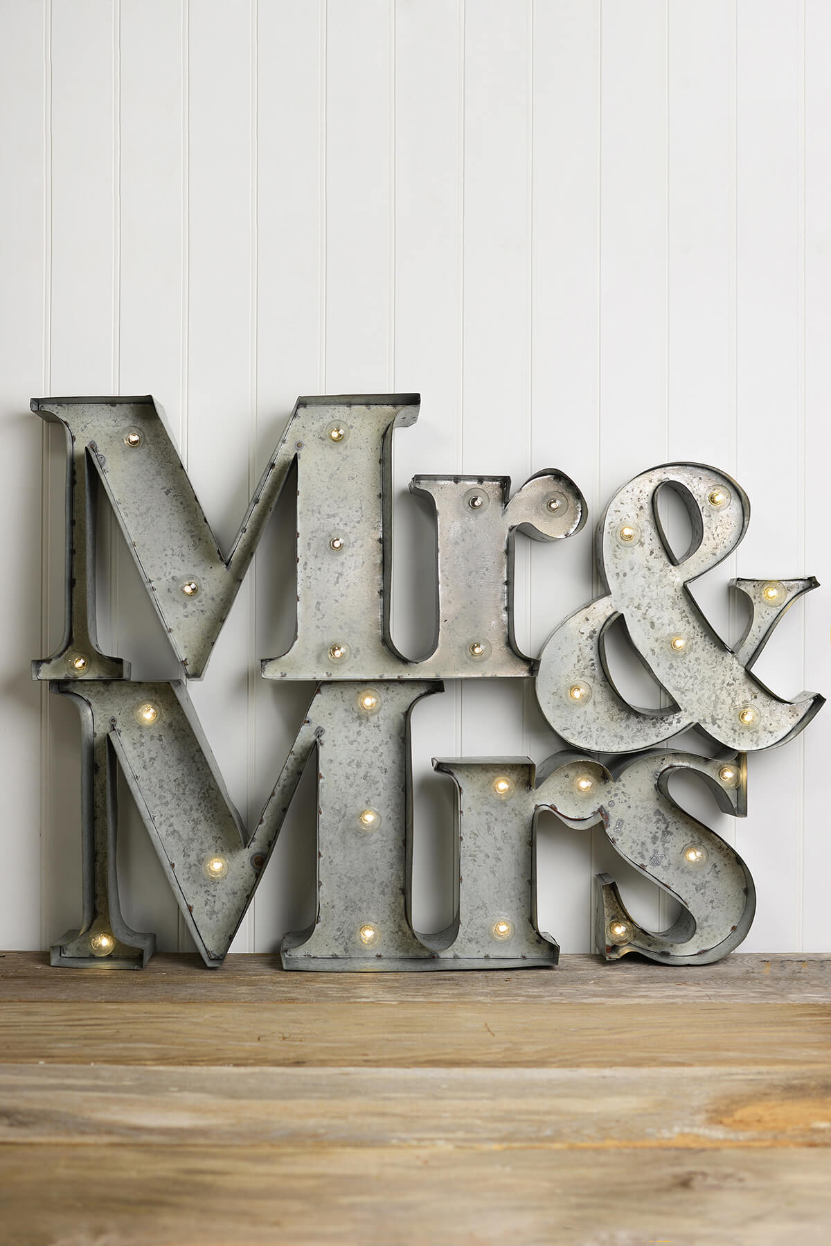 Mr Amp Mrs Marquee Lighted Sign Battery Op
