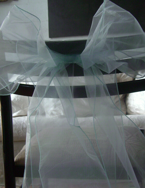 "Light Blue Organza Chair Sashes 9"" Wide  (Pack of 10)"
