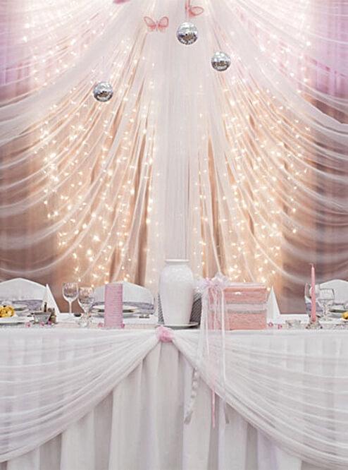 Led Light Curtain 5 X 7 Dual Color Warm Amp Cool White Leds