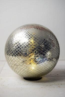 "LED Mercury Glass Sphere 11.5"""
