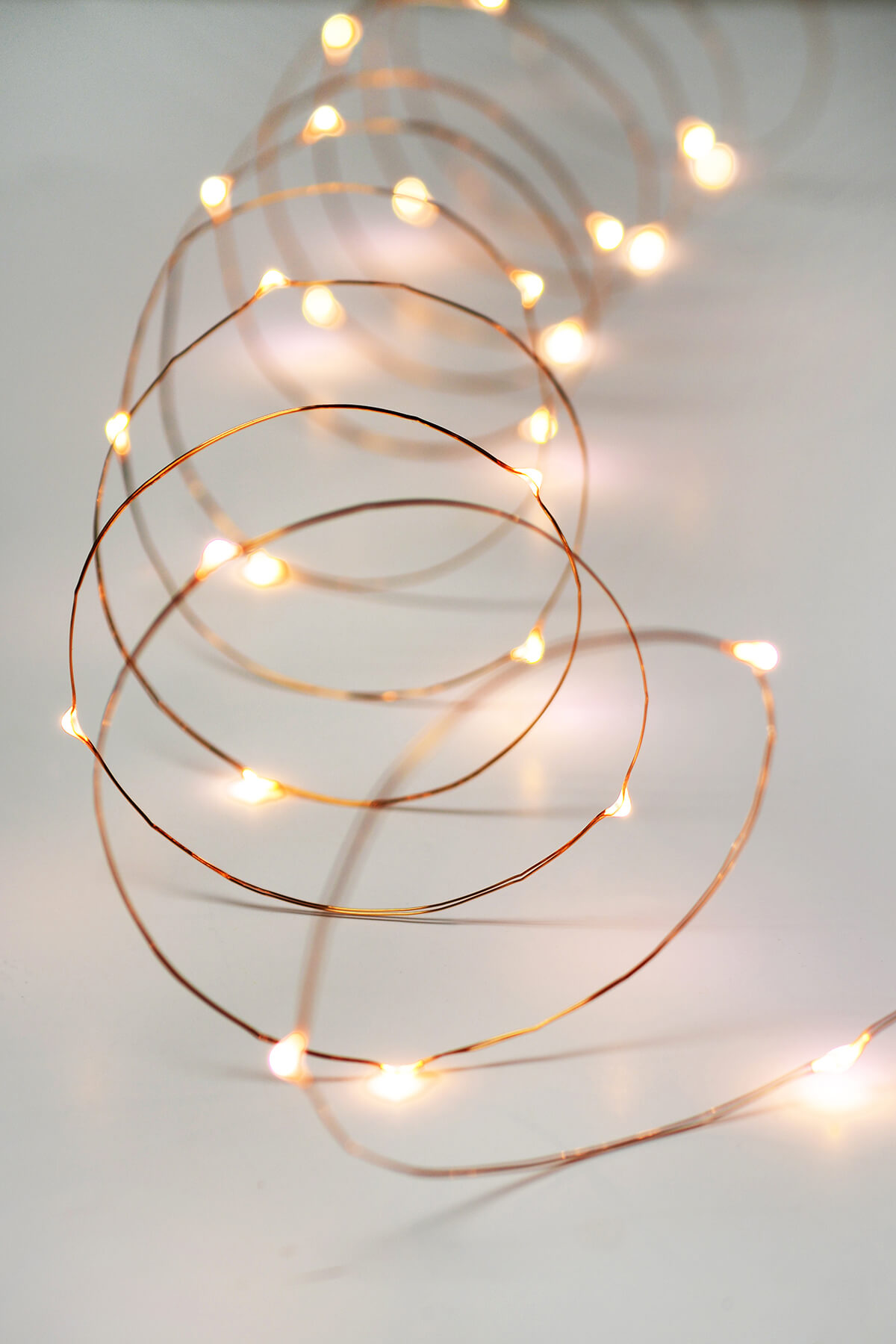 Copper Wire Fairy Lights 10 Ft Outdoor Battery Operated