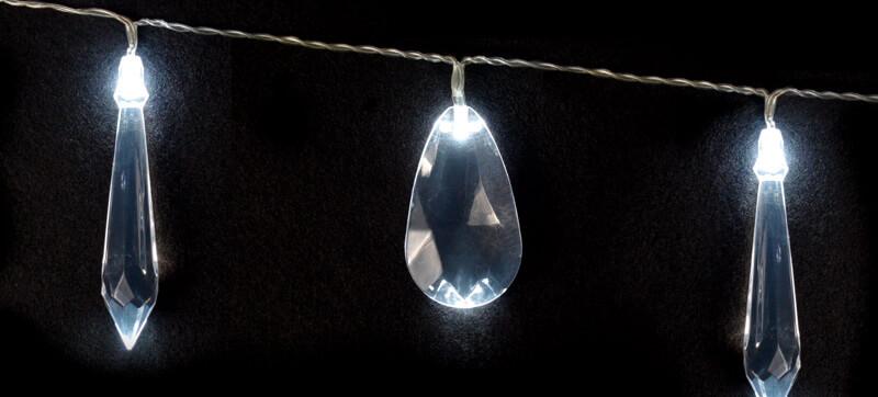 Crystal String Lights, Battery Op.,
