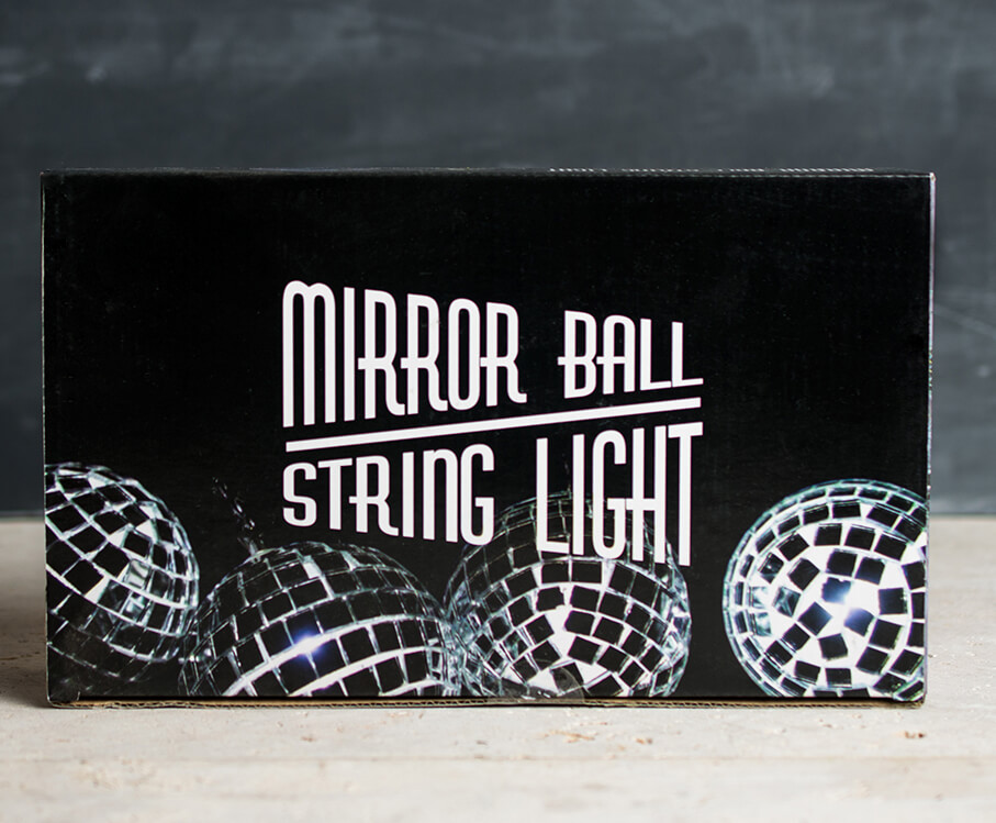 Mirror Ball String Lights 12CT   Battery Op