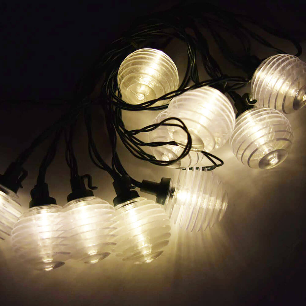 Solar Lantern String Lights Patio Set