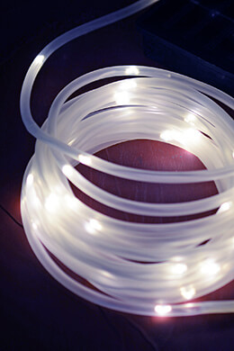 Solar Rope Lights Cool White 16.5 Feet