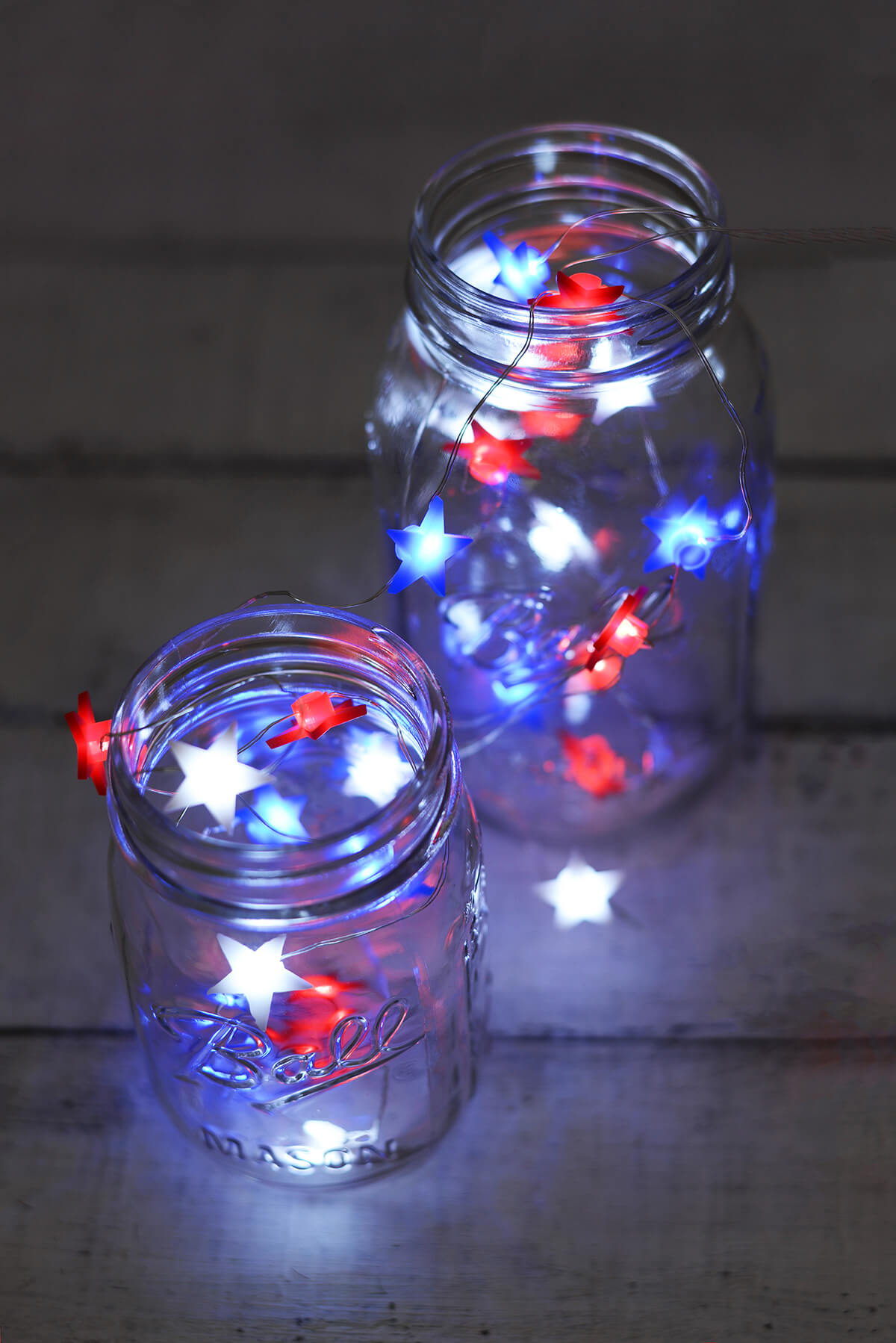 Everlasting Glow Red White Amp Blue Star Shaped Led Mini