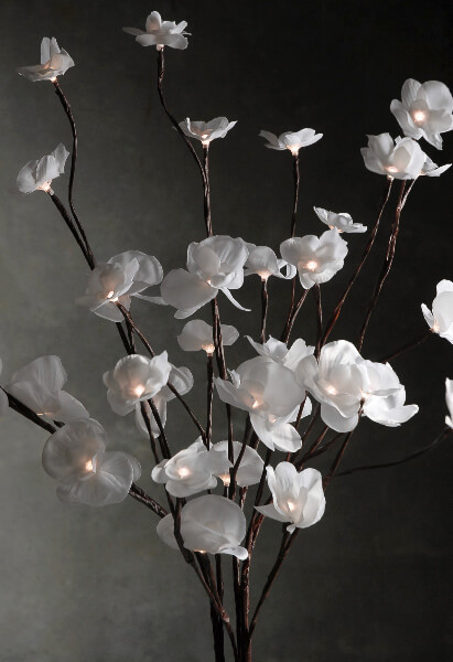 Led Lighted Branches With Orchids 3 Branches