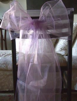 10 Lilac Organza Chair Sashes