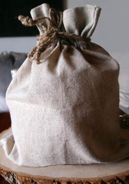 12 Large 10 x 12 Linen Drawstring Bags