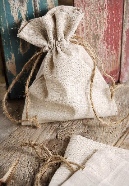 Small Linen Favor Bags 5x7