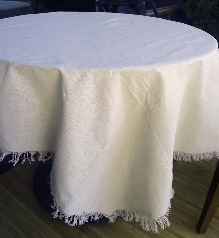 Beau ... Linen Table Cloth With Fringe Edge 54 X 54 Square ...