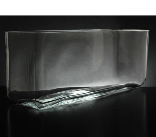 "Long Glass Rectangle Vase  11.5"" x 3.5"""