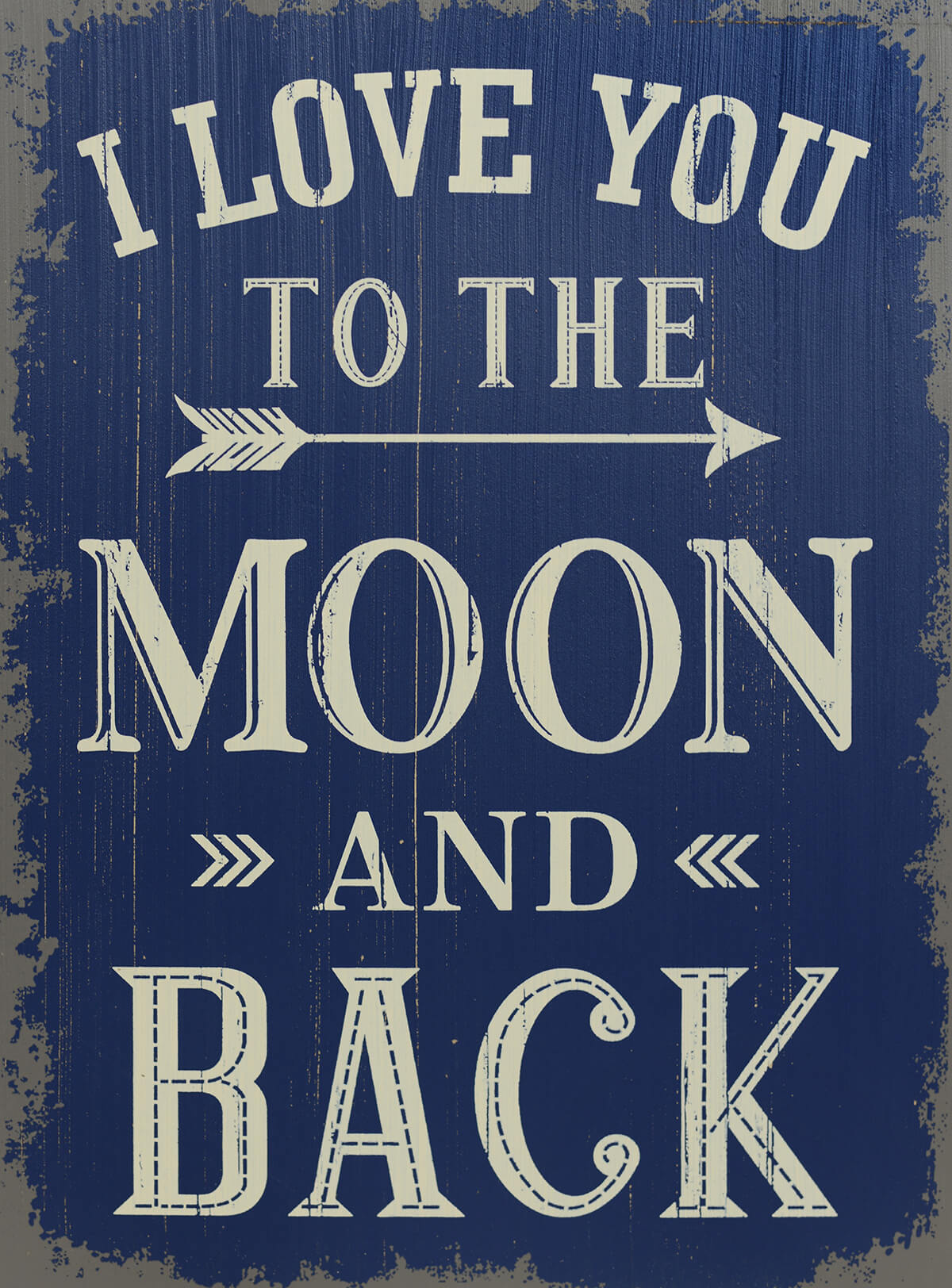 Blue And White Living Room I Love You To The Moon And Back 19 Quot Sign Saveoncrafts