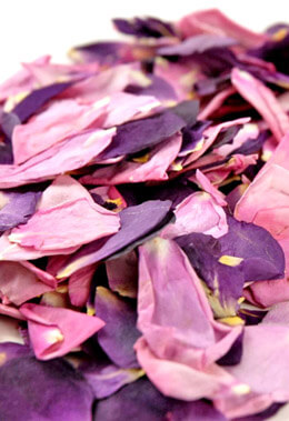 Preserved Rose Petals Pink and Lavender 5 Cups