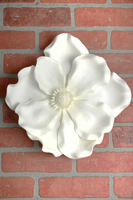 Magnolia Hanging Flower Head Cream White