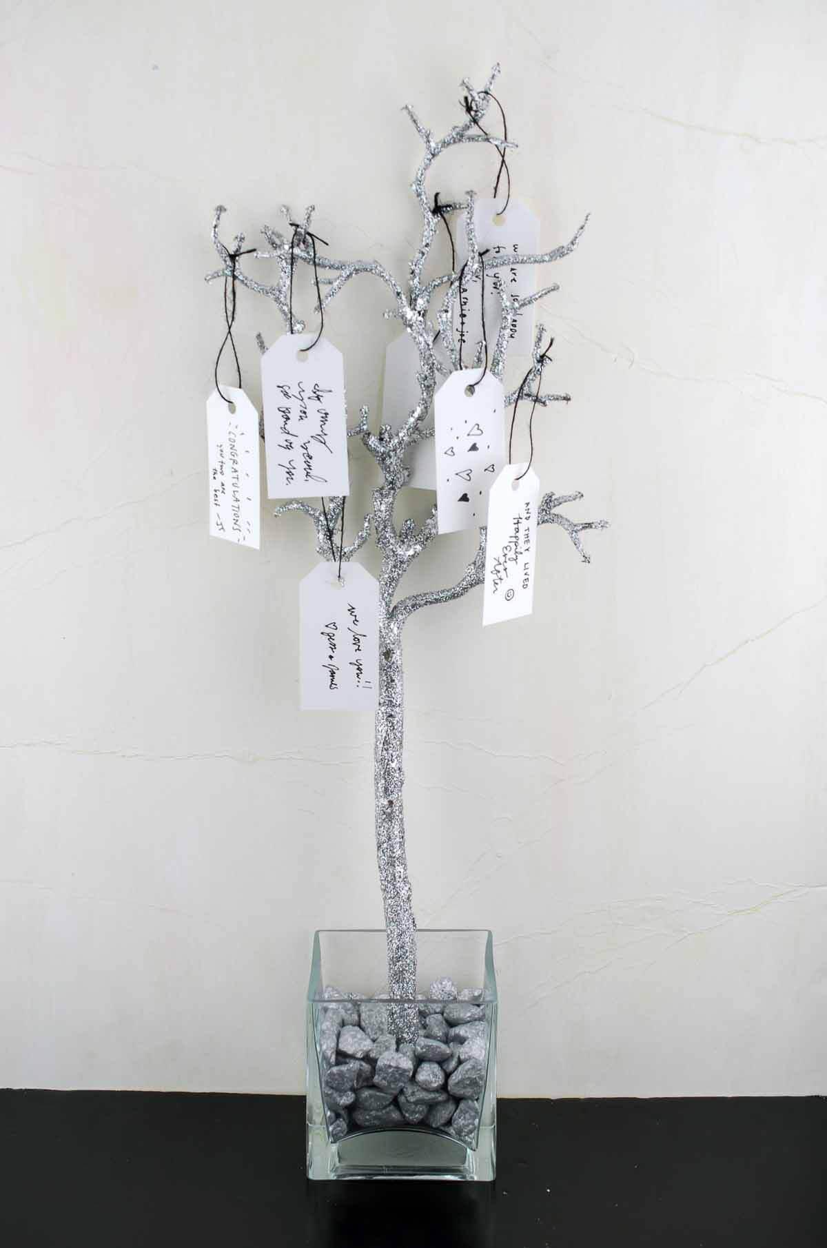 """3 Silver Glitter 22"""" Artificial Manzanita Branches"""