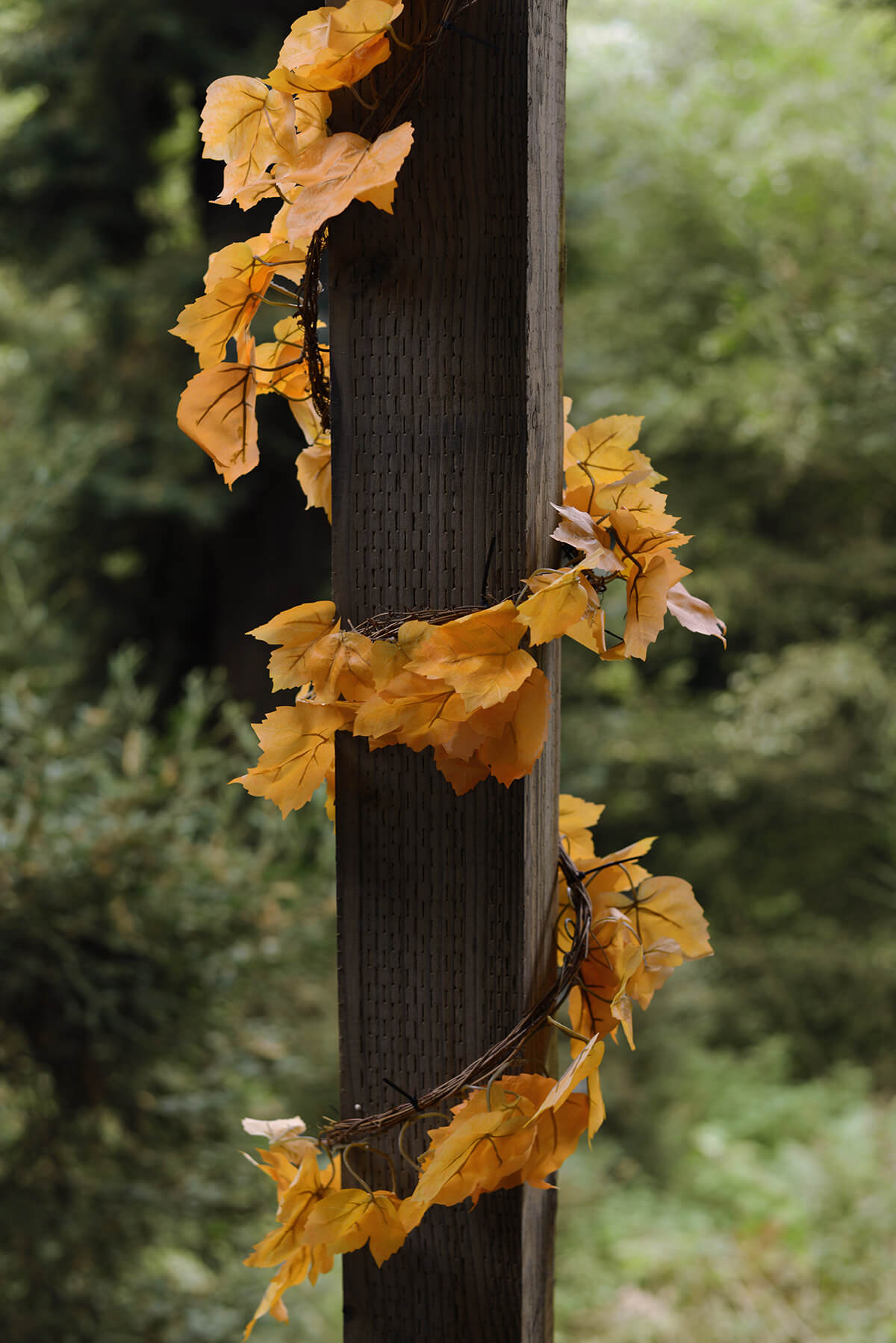 Maple Leaf Garland Yellow 6ft