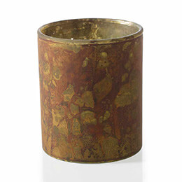 """6 Agave Votive Holders 3""""x 3.5"""" Copper & Gold"""