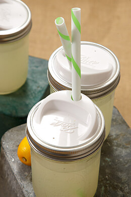 Mason Jar Sip & Straw Lids Wide Mouth (Pack of 4)