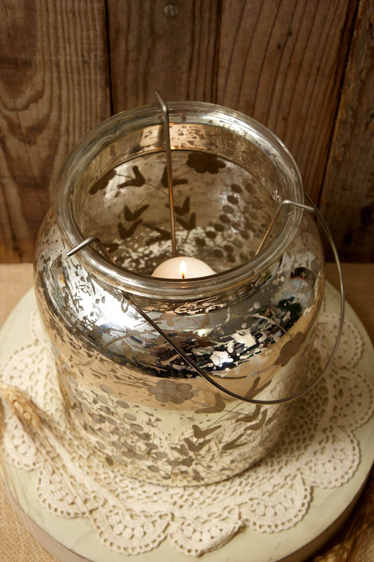 Mercury Glass Candle Holder Lantern 8 5 Quot