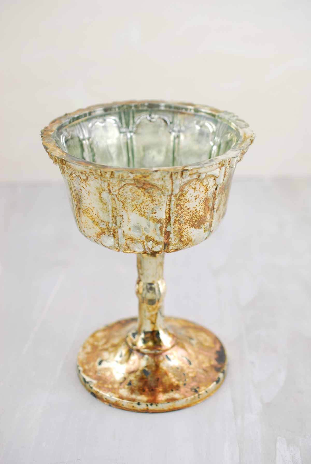 Mercury Glass Fairytale Compote