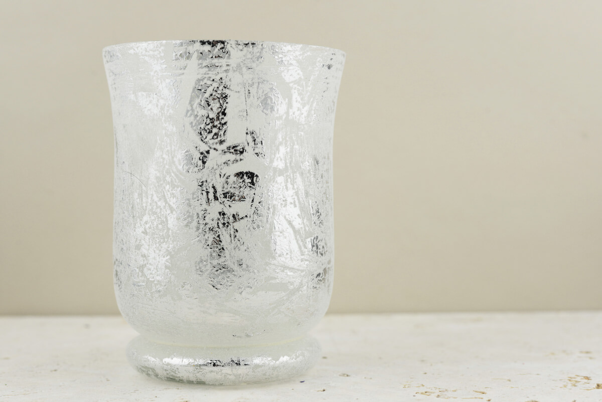 Frosted Mercury Glass Hurricane Vase Amp Candleholder 6 Quot
