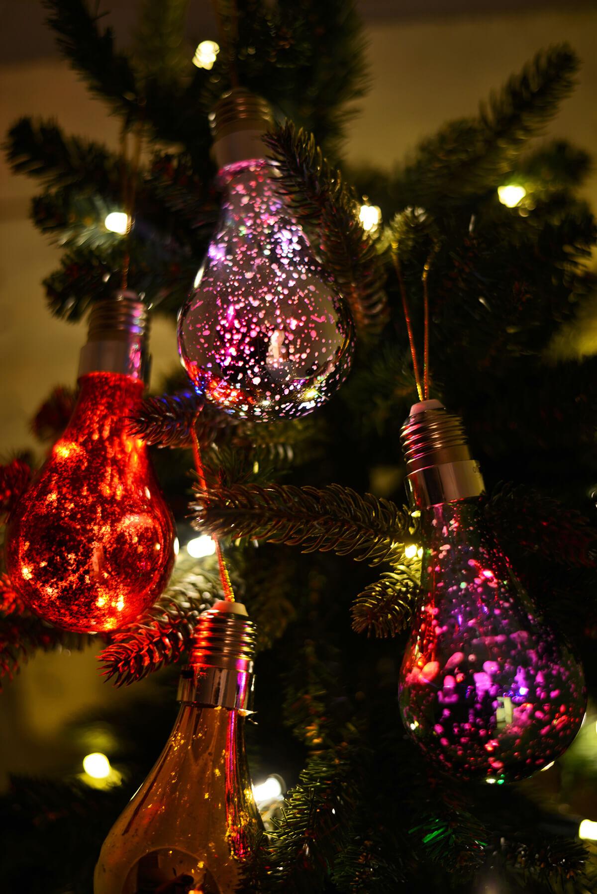 LED Mercury Glass Light Bulbs 55 Christmas Decorations Battery