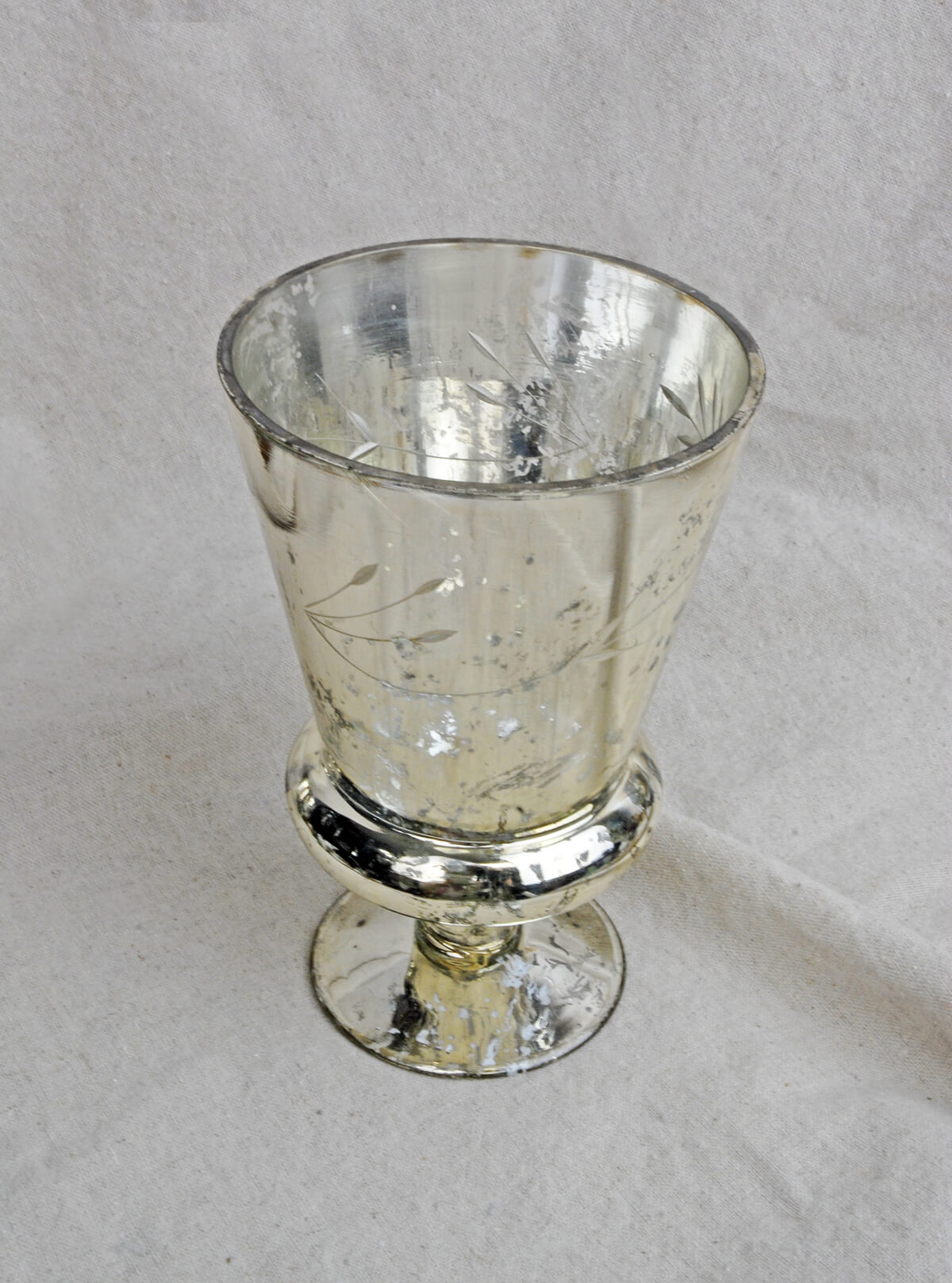 Mercury Vase Glass Tapered 6.75in