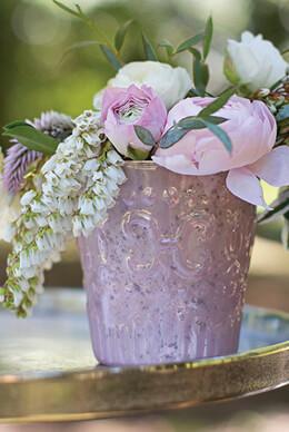 Blush Pink Votive Holder - Pink 3.8in