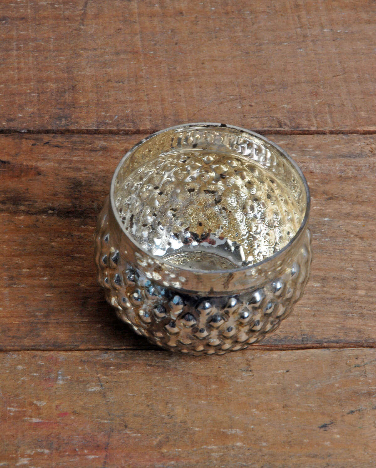 Silver Mercury Glass Votive Holder 2in Set Of 12