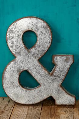 Metal Ampersand 20in