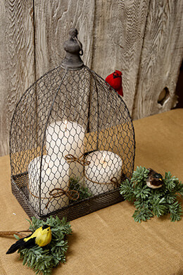 Metal Bird Cage Rectangular 18.5in