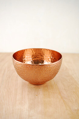 Metal Bowl Copper 6.25x3.5in