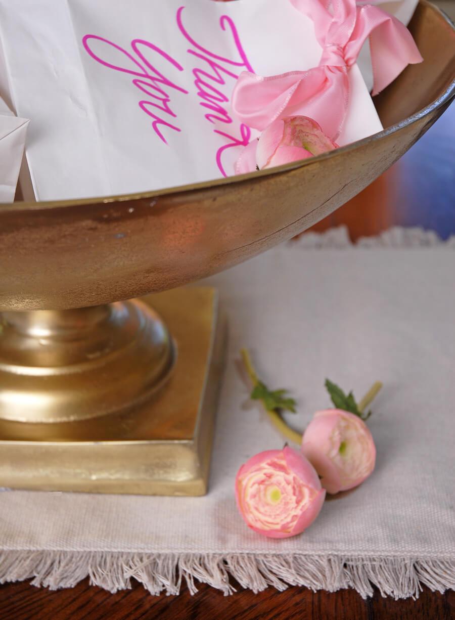 Large Gold Metal Trophy Bowl