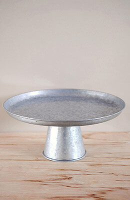 Galvanized Metal Cupcake Stand 16in