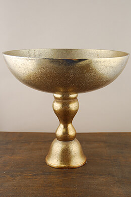 Gold Dorado Pedestal Bowl 12in x 11in
